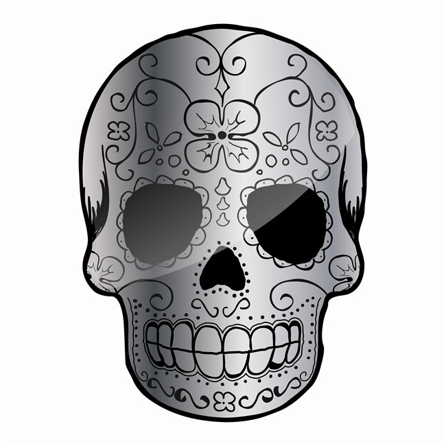 1 Sticker Autocollant Cadox Crâne Mexicain Calavera