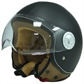Jet helm Ride 701 zwart leder XL