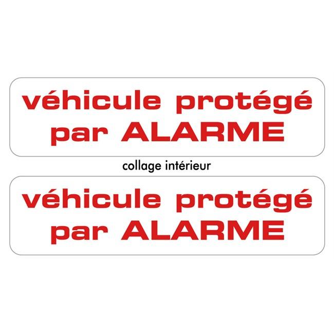 2 Stickers Autocollants Cadox Protégé Par Alarme