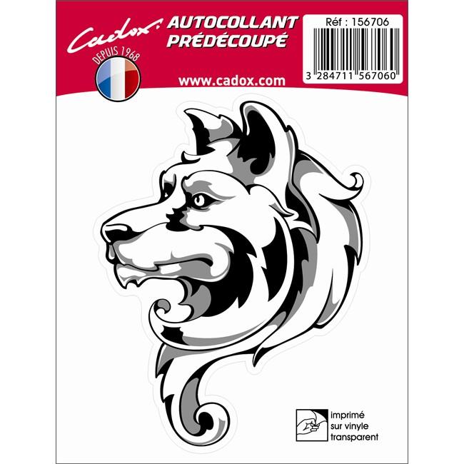 1 Sticker Autocollant Cadox Loup